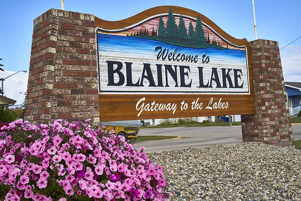 Blaine Lake Town Sign