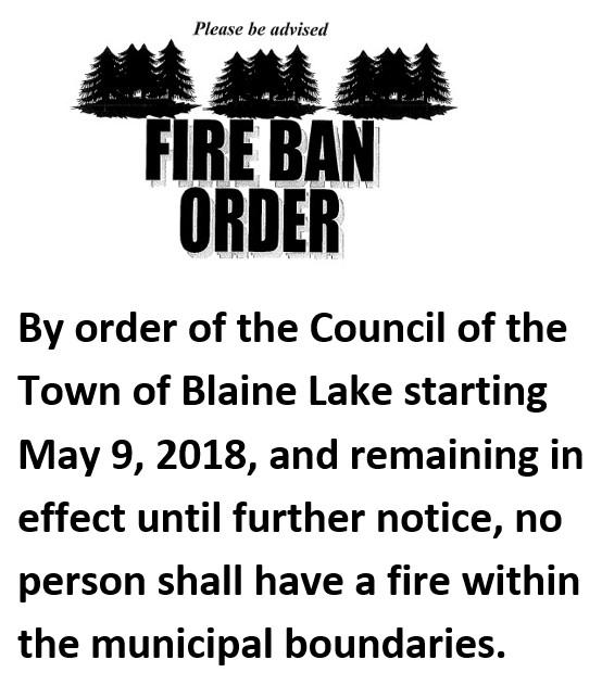 fire ban may 2018 blainelake saskatchewan
