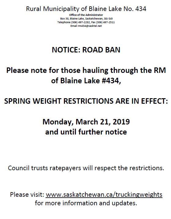 March 2019 – Blainelake, Saskatchewan